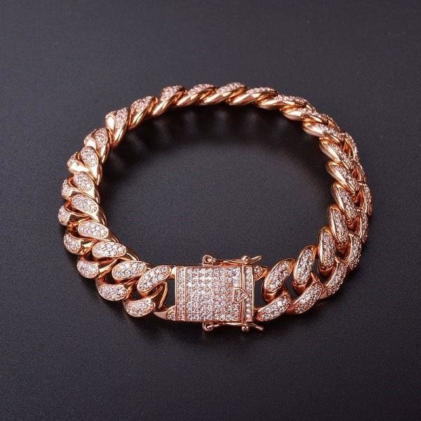 Hip hop Bracelet Just For You - rose gold / 7inch - Chain & Link Bracelets