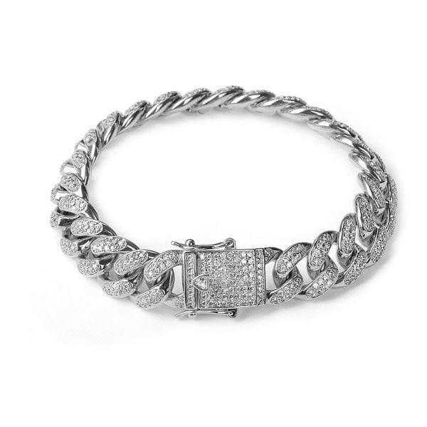 Hip hop Bracelet Just For You - silver / 7inch - Chain & Link Bracelets