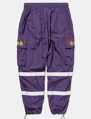 Hip hop wind pants - purple / L - Sweatpants