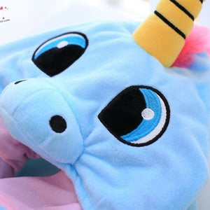 Hooded Unicorn Pillow for Travel - Decorative Pillows