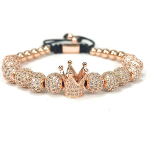 Imperial Crown Bracelet - Rose Gold Color - Strand Bracelets