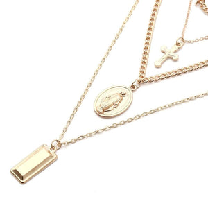 Jesus and Virgin Mary Necklace - Pendant Necklaces