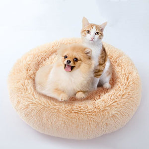 Kennel Round Plush Nest Bed - Houses Kennels & Pens