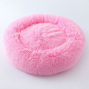 Kennel Round Plush Nest Bed - Pink / 60x60cm - Houses Kennels & Pens