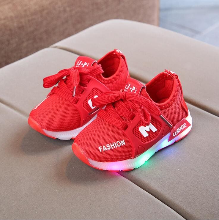 Kids LED Sneakers Shoes - Red / 5.5 - LED Shoes Kids