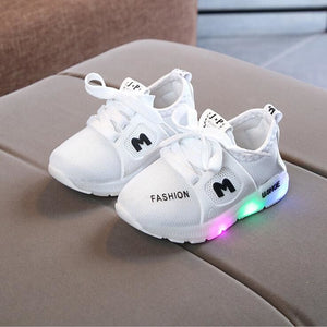 Kids LED Sneakers Shoes - White / 5.5 - LED Shoes Kids
