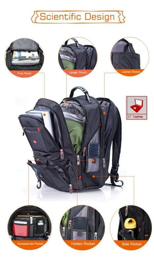Laptop backpack Waterproof USB Charge Just For You - Backpacks1