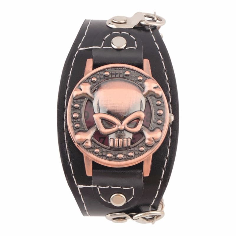 Leather Skull Watch Strap - Default - Lovers Watches
