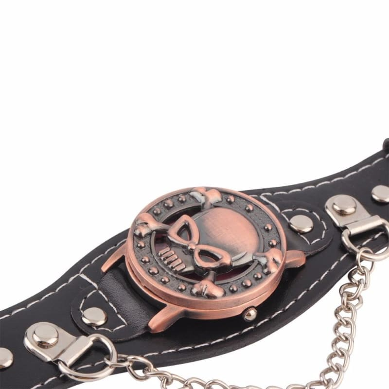 Leather Skull Watch Strap - Lovers Watches