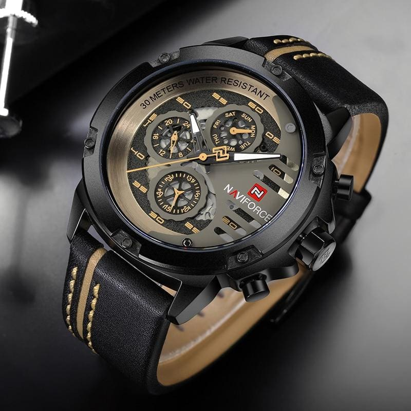 Leather Sports Wrist Watch for Men - Quartz Watches