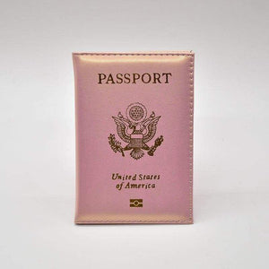 Leather USA passport holder - Pink - Card & ID Holders
