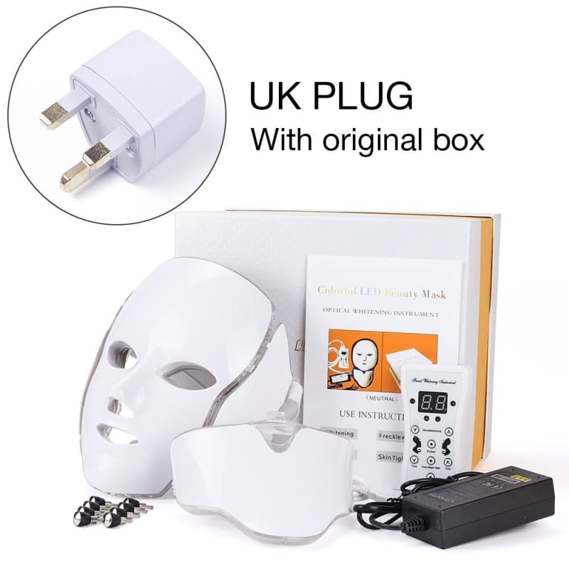 LED Light Therapy Mask - UK Plug with box - Face Skin Care Tools