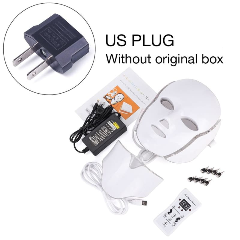 LED Light Therapy Mask - US Plug withthou box - Face Skin Care Tools