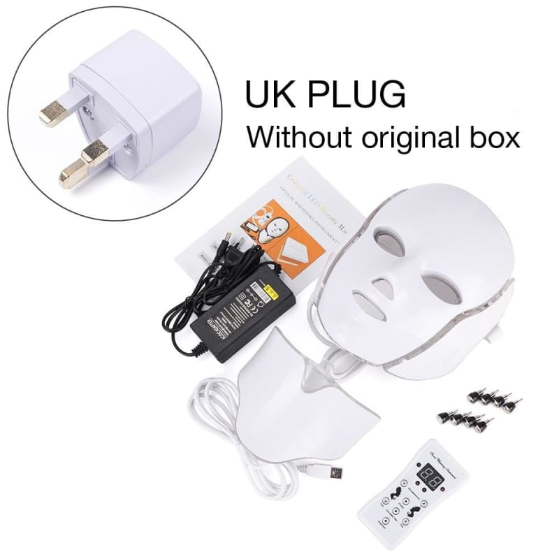 LED Light Therapy Mask - UK Plug withthou box - Face Skin Care Tools