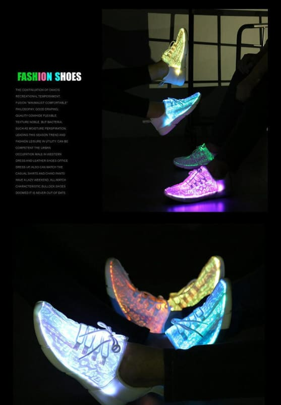 Led Kids Boys Toddler Girls Mens Light Up Sneakers Shoes For Adults