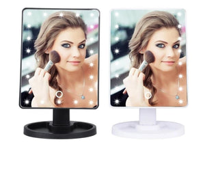 Led Makeup Mirror With Lights - 22LED black - Beauty Product