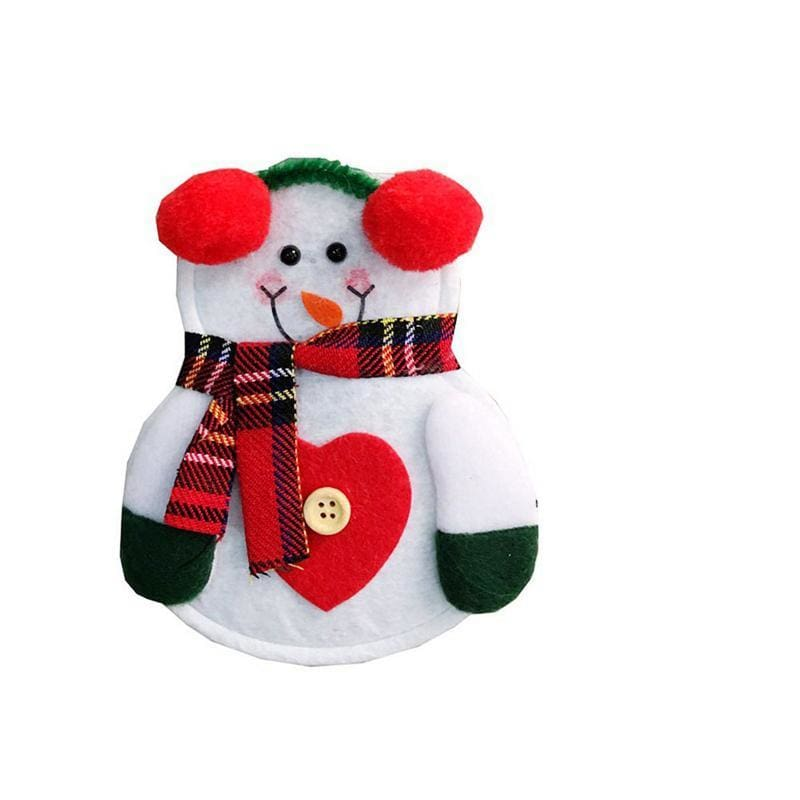 Little Snowman Cutlery Bag - A - Stockings & Gift Holders
