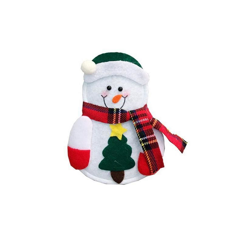Little Snowman Cutlery Bag - C - Stockings & Gift Holders