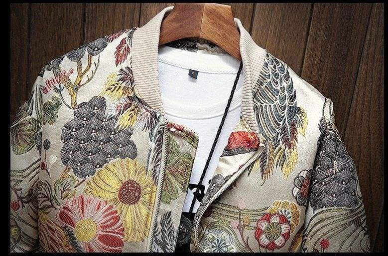 Luxury Floral Jacket men - Jackets