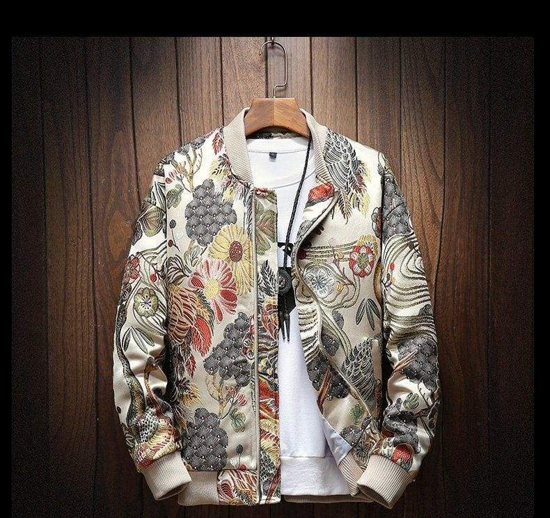 Luxury Floral Jacket men - M - Jackets