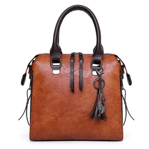 Luxury Leather Bag Set - Top-Handle Bags