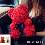 Luxury Rose Teddy Bear - Artificial & Dried Flowers