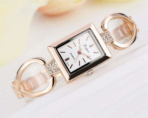 Luxury Women Bracelet Watches - Rose Gold White 3 - Womens Watches
