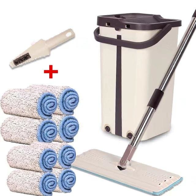 Magic Mop & Bucket Cleaner - Total 8 cloth - Mops