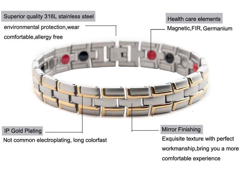 Jewelry Mens Magnetic Wristband Copper Therapy Arthritis Bracelets Bangles