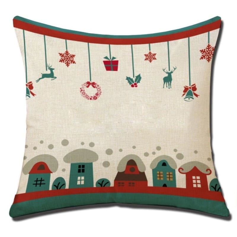 Merry Christmas Cushion Cover - type 10 / 45x45cm - Pendant & Drop Ornaments