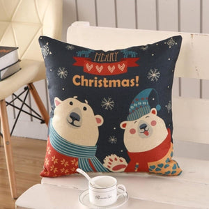 Merry Christmas Cushion Cover - type 16 / 45x45cm - Pendant & Drop Ornaments