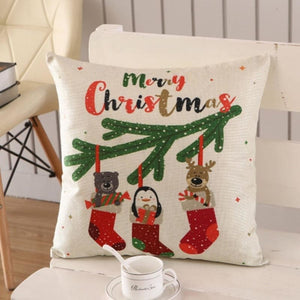 Merry Christmas Cushion Cover - type 17 / 45x45cm - Pendant & Drop Ornaments