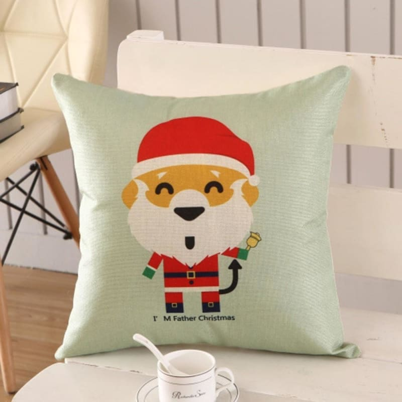 Merry Christmas Cushion Cover - type 19 / 45x45cm - Pendant & Drop Ornaments