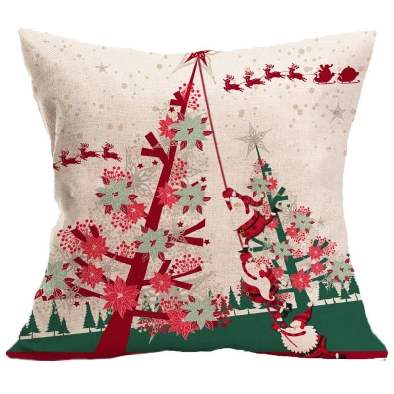 Merry Christmas Cushion Cover - type 2 / 45x45cm - Pendant & Drop Ornaments