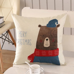 Merry Christmas Cushion Cover - type 22 / 45x45cm - Pendant & Drop Ornaments