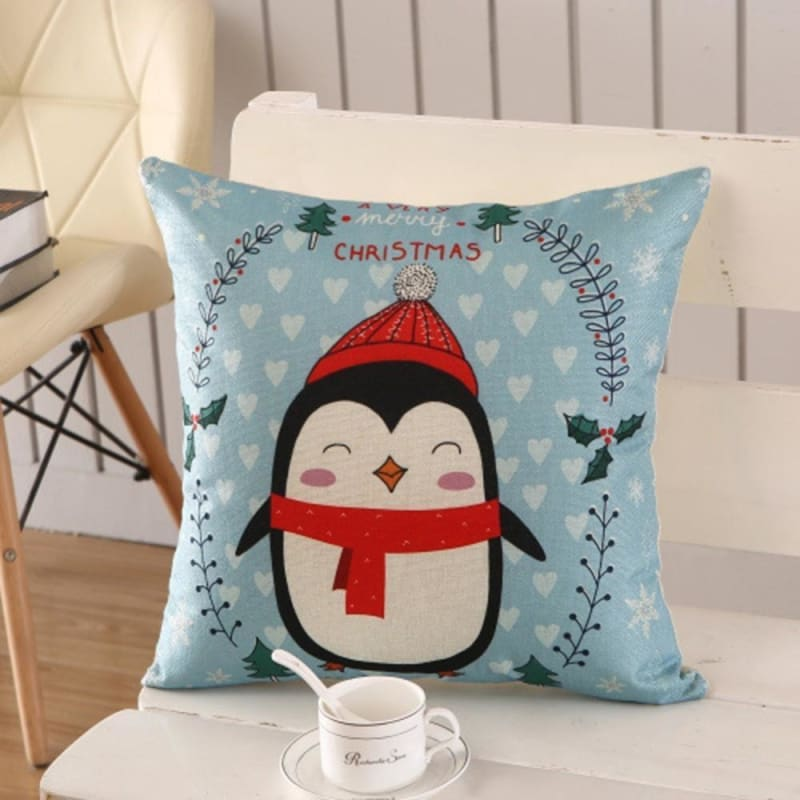 Merry Christmas Cushion Cover - type 23 / 45x45cm - Pendant & Drop Ornaments