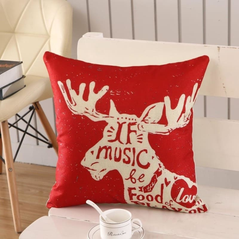 Merry Christmas Cushion Cover - type 24 / 45x45cm - Pendant & Drop Ornaments