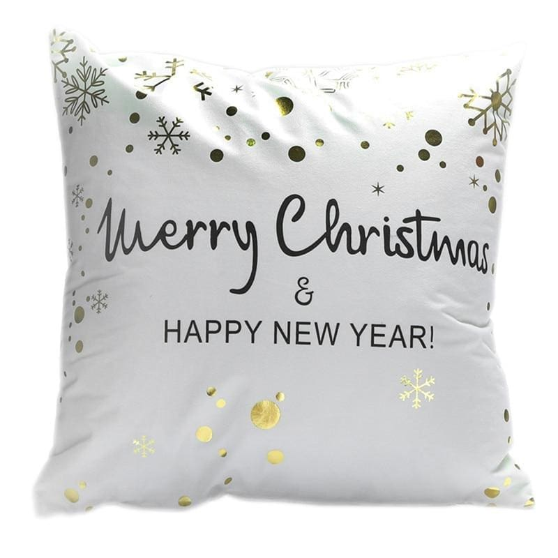 Merry Christmas Cushion Cover - type 34 / 45x45cm - Pendant & Drop Ornaments