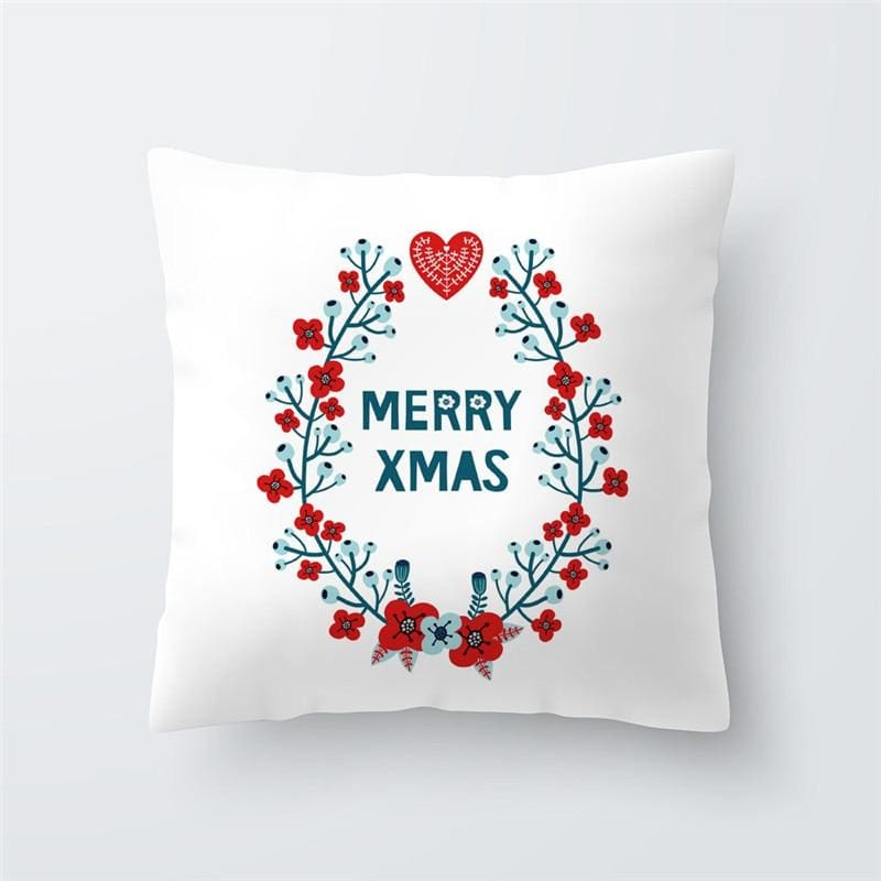 Merry Christmas Cushion Cover - type 39 / 45x45cm - Pendant & Drop Ornaments