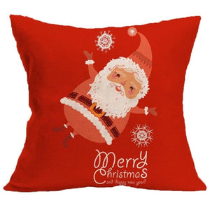 Merry Christmas Cushion Cover - type 4 / 45x45cm - Pendant & Drop Ornaments