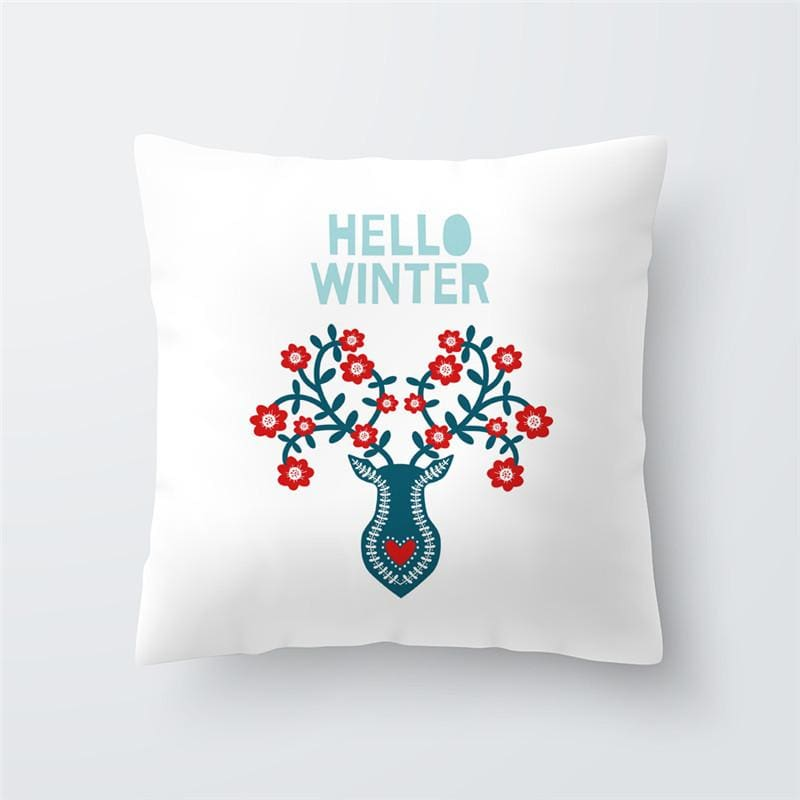 Merry Christmas Cushion Cover - type 40 / 45x45cm - Pendant & Drop Ornaments