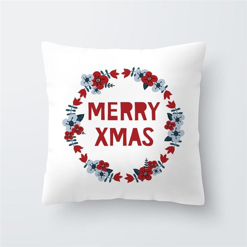 Merry Christmas Cushion Cover - type 41 / 45x45cm - Pendant & Drop Ornaments