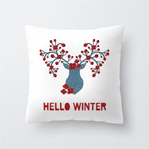 Merry Christmas Cushion Cover - type 43 / 45x45cm - Pendant & Drop Ornaments