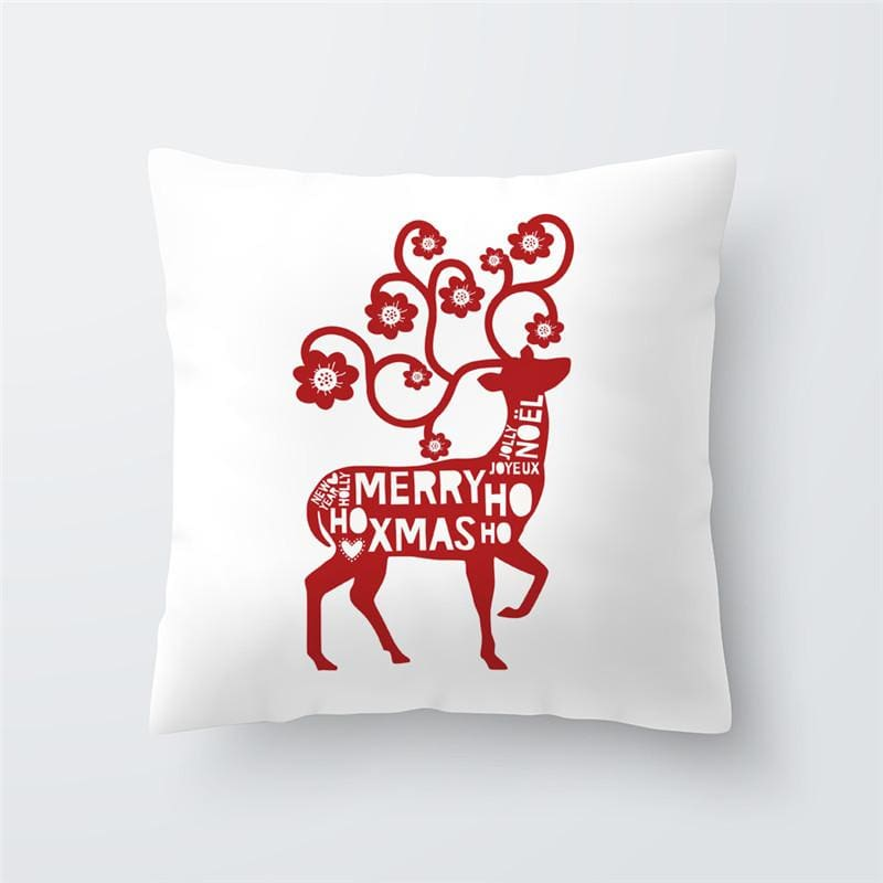 Merry Christmas Cushion Cover - type 44 / 45x45cm - Pendant & Drop Ornaments