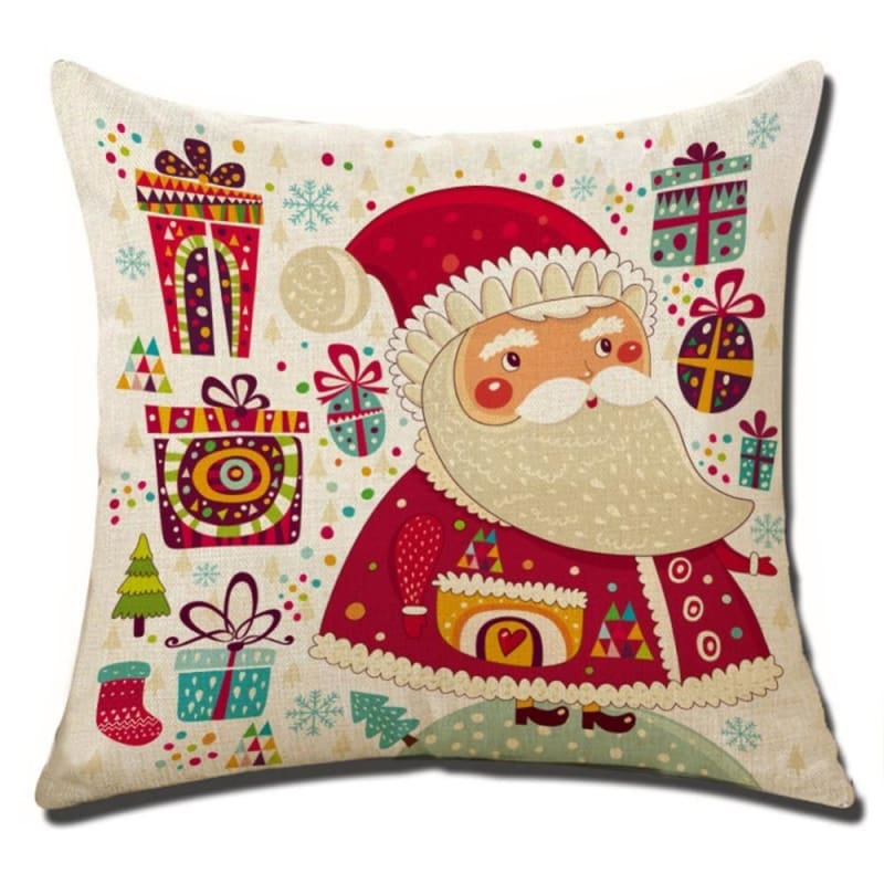 Merry Christmas Cushion Cover - type 6 / 45x45cm - Pendant & Drop Ornaments