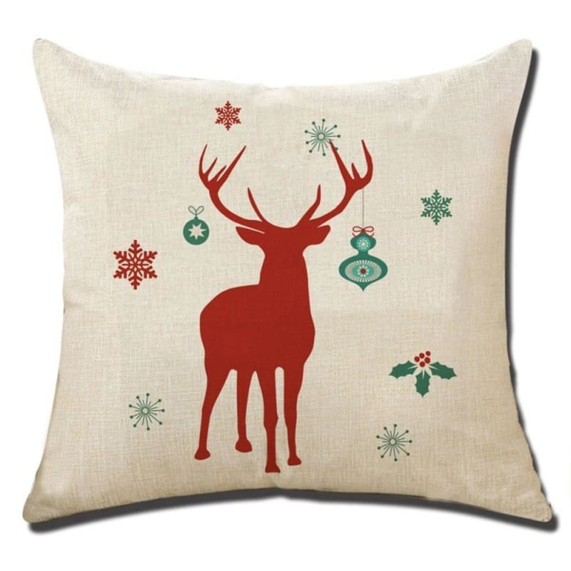 Merry Christmas Cushion Cover - type 7 / 45x45cm - Pendant & Drop Ornaments