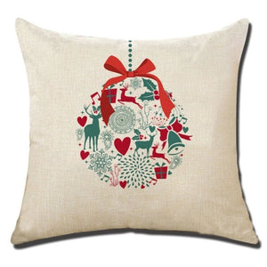 Merry Christmas Cushion Cover - type 8 / 45x45cm - Pendant & Drop Ornaments