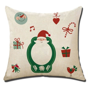 Merry Christmas Cushion Cover - type 9 / 45x45cm - Pendant & Drop Ornaments