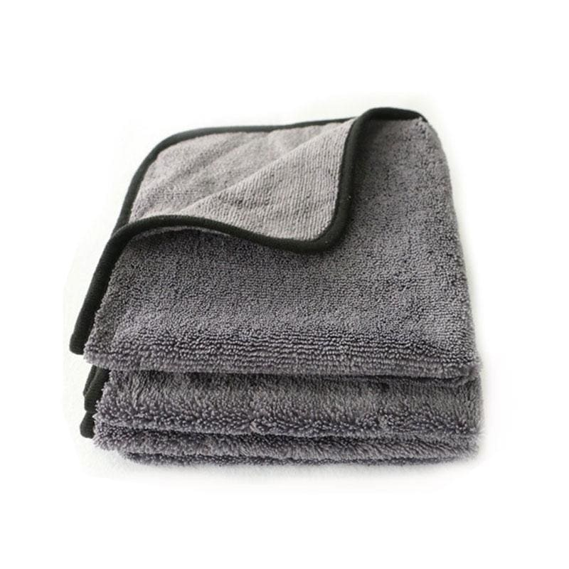 Microfiber Plush Detailing Towel - gray - Sponges Cloths & Brushes