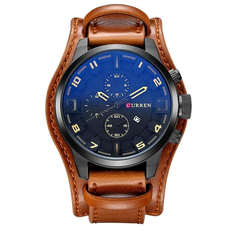 Military Sports Watch for Men - brown black - Quartz Watches